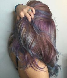 50 Great Ideas Of Purple Highlights In Brown Hair January 2019 inside 48 Colorf. - - 50 Great Ideas Of Purple Highlights In Brown Hair January 2019 inside 48 Colorful Dusty Lilac Hair. Purple Brown Hair, Purple Hair Highlights, Light Brown Hair, Brown Hair Colors, Dusty Purple, Colored Streaks In Hair, Colored Short Hair, Coloured Highlights, Purple Hair Streaks