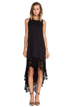Nightcap Crochet Hanalei Dress in Black