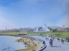Whitley Bay and Spanish City, painted in watercolours, by Sharon Douglas. www.sharondouglas.weebly.com