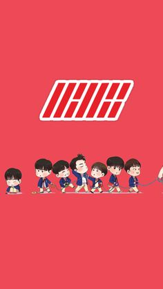 Chanwoo Ikon, Hanbin, Yg Entertaiment, Easy Art For Kids, Ikon Member, Doodle Characters, Street Art Love, Ikon Kpop, Ikon Wallpaper
