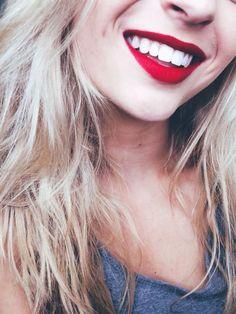 Straight white teeth!