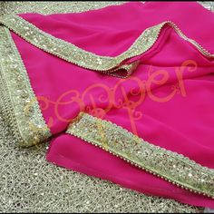 Beautiful hot pink saree with mesh sequins border #indianoutfit #partywear #copperstyle #desiwedding #sangeet #mehendi #bollywoodstyle #bridalfashion #bridaltrousseau #fashioncopperstyle  Whtsapp:+917738177090