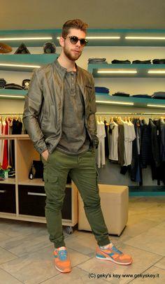 Giubbotto in eco #Fiftyfour Serafino #Imbrian Pantalone tasconato @FiftyFour Scarpe #Diadora