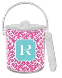 $54.95 Chloe Raspberry Lucite Ice Bucket