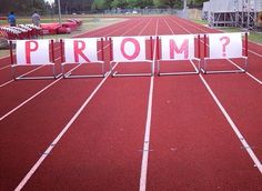The real true one and only relationship goal. My ideal Promposal. I love this with all of my heart. #track #hurdles #promposal