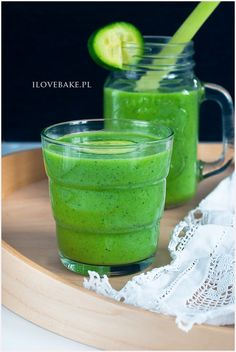 Koktajl oczyszczający - I Love Bake Homemade Protein Shakes, Easy Protein Shakes, Protein Shake Recipes, Healthy Diet Recipes, Weight Loss Smoothies, How To Lose Weight Fast, Lunch Box, Food And Drink, Baking