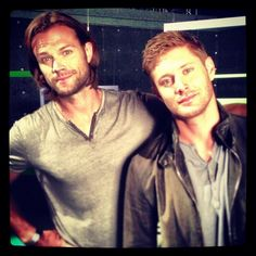 Jensen and Jared at the CW 2013 Supernatural photoshoot.