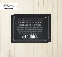 baby shower bring a book instead of a card by RebeccaDesigns22