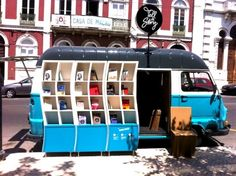 Beautiful Blue Tell a Story Book Van Takes Literature to the Streets of Lisbon
