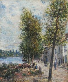 Alfred Sisley - Saint-Mammes, 1879, oil on canvas