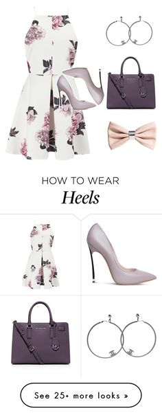 """I grabbed my hoops and my heels and set of for an adventure"" by simply-chicfashion on Polyvore featuring Cameo, Casadei, Chanel, MICHAEL Michael Kors and H&M"