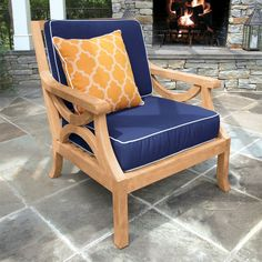 Teak Lounge U0026 Club Chairs   Fiori® Lounge Chair | Country Casual