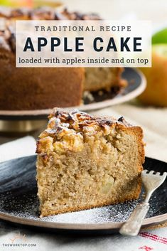 Fresh apples are the star ingredient in this Dorset Apple Cake. Youll find fresh apples inside and on top of this cake! Moist Apple Cake, Easy Apple Cake, Fresh Apple Cake, Apple Cake Recipes, Fresh Apples, Apple Desserts, Delicious Desserts, Apple Cakes, Best Apple Recipes