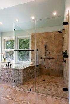 Handicapped Acessible Retreat - traditional - bathroom - austin - CG&S Design-Build