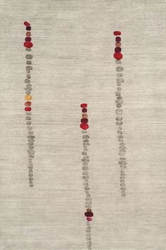 Stone Flowers Slate Tibetan Hand Knotted Rug from the Tibetan Rugs 2 collection at Modern Area Rugs