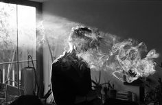 Smoke and light. B/W
