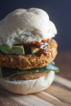 smokey chipotle veggie burger - bit more work than I care to do, but these sound awfully good!