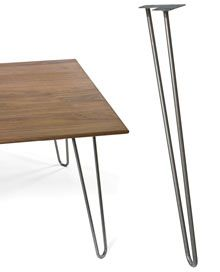"""$24.95 Hairpin Table Legs - 28"""" metal legs--we can make our own dining room table!"""
