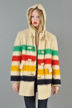 Canada Goose parka online 2016 - 1950's Vintage Hudson Bay Co Blanket Belted Pea Coat Peacoat Great ...
