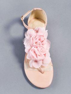 girly / pink / flowers / flat sandal
