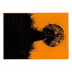 KESS InHouse Barmalisirtb 'Black Samuari' Black Orange Dog Place Mat, 13' x 18' => Discover this special dog product, click the image : Dog food container