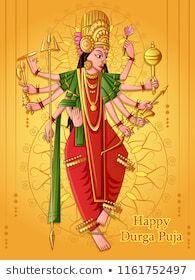 Vector design of Indian Goddess Durga sculpture for Durga Puja holiday festival of India in Dussehra Vijayadashami Navratri Indian Goddess, Durga Goddess, Happy Durga Puja, Festivals Of India, God Prayer, Holiday Festival, Vector Design, Royalty Free Stock Photos, Sculpture