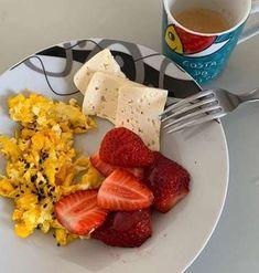 Good Morning Breakfast, Easy Healthy Breakfast, Healthy Diet Recipes, Healthy Snacks, Clean Eating Diet, Healthy Eating, Helathy Food, Gym Food, Fruits And Veggies