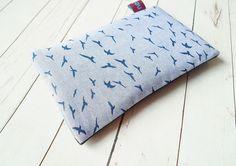 Handytaschen - NELOMI Handytasche Handyhülle,Möwen blau maritim - ein Designerstück von nelomi bei DaWanda