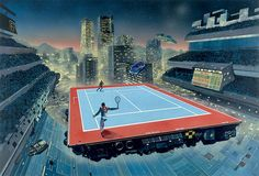 Tennis in the future is awesome.