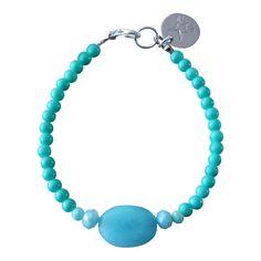 Armband Zilver - Big Stone turquoise