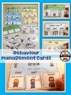 "These cards were made in the same format as my best seller ""Visual Support cards for Behaviour Manangement"" but iv updated it and added cute visuals to make them more fun!"