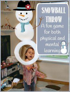 Indoor Snowball cornhole game, perfect for gross motor skills and reviewing lessons by Castle View Academy