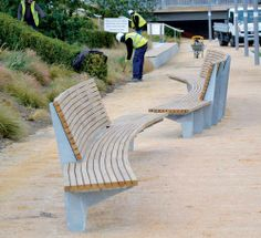 Awesome Public Bench (Awesome Public Bench) design ideas and photos Furniture Showroom, Urban Furniture, Street Furniture, Cheap Furniture, Outdoor Furniture, Discount Furniture, Bench Designs, Pool Designs, Outdoor Seating