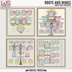 Roots and Wings | Family Tree Templates will make adding your family tree to your scrapbook a snap!