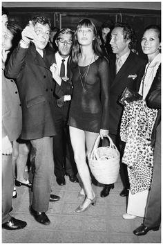 Serge Gainsourg, Jane Birkin and Pierre Grimblat 1969