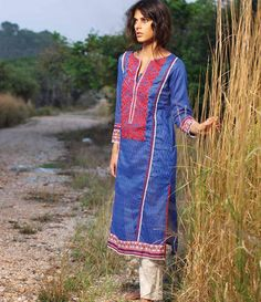 Orient Embroidered Lawn Kurti Collection 2015 OTL_109A