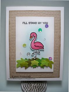 Little Scrap Pieces: I'll stand by you: Lawn Fawn: Flamin-go Together