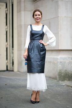 Semana de alta costura em Paris - jul/2015. Conceito de styling muito bom para inspirações futuras! Ulyana Sergeenko - HarpersBAZAAR.com