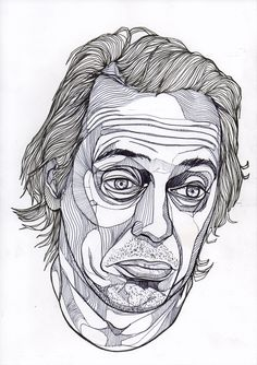 Steve Buscemi by Luke Dixon. I admire his detailling, the line art is spotless.