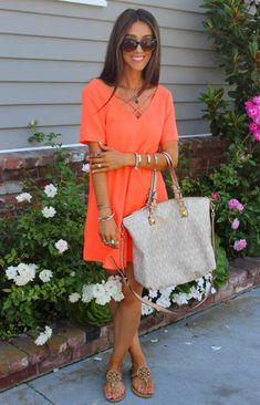 Balboa Boutique Tangerine Criss Cross Strap Neckline Mini Shirt Dress