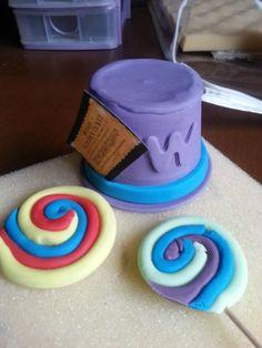 Willy wonka hat & lollies