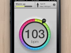 iOS heart-rate monitor - click through to see the animation