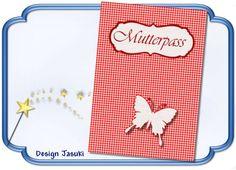 Mutterpass Hülle, Schmetterling von Jasuki auf DaWanda.com
