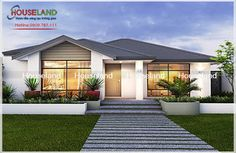 There's more to celebrate when you build with Celebration Homes. Choose from stunning new home designs that are stylish & functional. View our house plans now. Modern Bungalow House, Small House Exteriors, Modern House Plans, Small House Design, Modern House Design, New Housing Developments, Front House Landscaping, One Level Homes, Ranch Style Homes