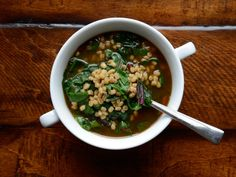 Barley and Swiss Chard Soup | Rustico Cooking