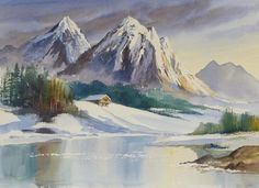 Terry Harrison - Watercolour with masking fluid