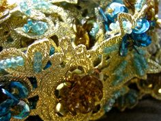 3D Beaded and sequin trim handsewn commercial by pinksewingroom, $24.00