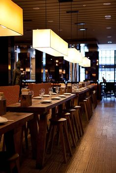 Sunda Chicago Communal Tables...Great spot for a dinner party...small or big!