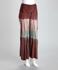 Take a look at this Pink & Turquoise Ombre Tie-Dye Palazzo Pants by Royal Handicrafts on #zulily today!