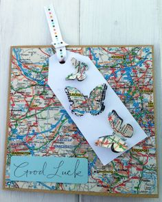 A twist on a Good Luck card - many uses Moving Home, Travel, New Job, Retirement etc. Available from www.purplepawcrafts.com